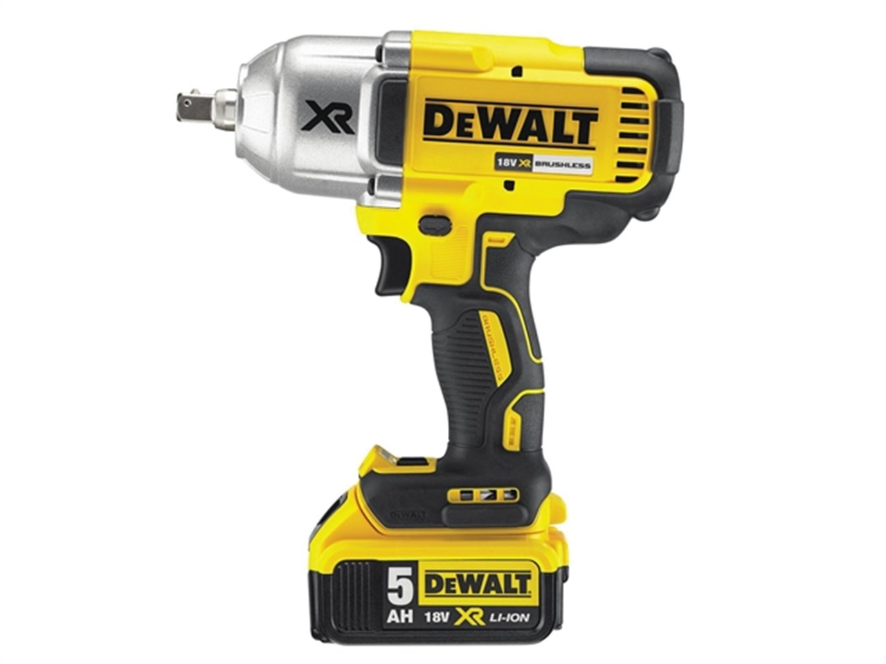 dewalt dcf899p2 xr 1 2 impact wrench 950nm 2 x 5ah. Black Bedroom Furniture Sets. Home Design Ideas