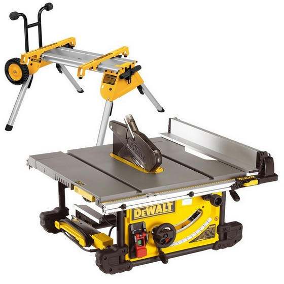 Dewalt Dw745rs Portable Table Saw With De7400 Stand 240v